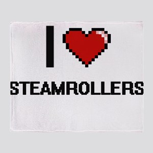 I love Steamrollers Digital Design Throw Blanket