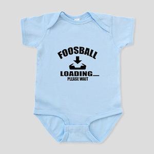 Foosball Loading Please Wait Baby Light Bodysuit