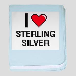 I love Sterling Silver Digital Design baby blanket
