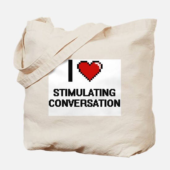 I love Stimulating Conversation Digital D Tote Bag
