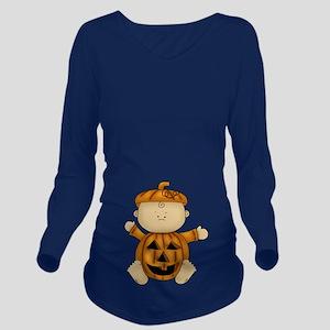 Pumpkin Baby-Long Sleeve Maternity T-Shirt