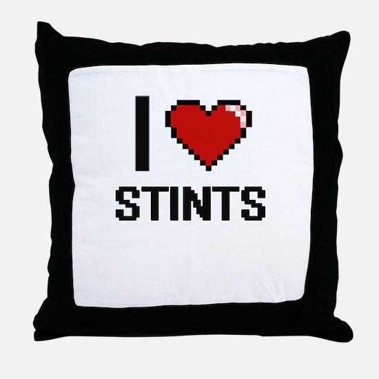 I love Stints Digital Design Throw Pillow