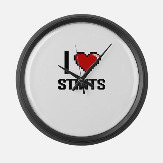 I love Stints Digital Design Large Wall Clock