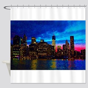 REFLECTIONS OF THE CITY Shower Curtain