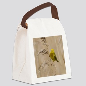 Yellow Warbler Canvas Lunch Bag