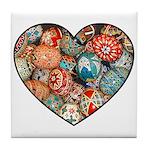 Pysanky Heart Tile Coaster