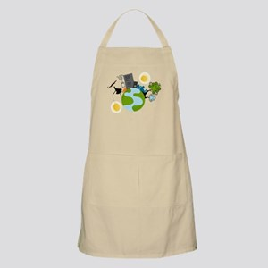 Urban Girl Vector Illustration Apron