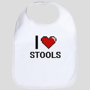 I love Stools Digital Design Bib