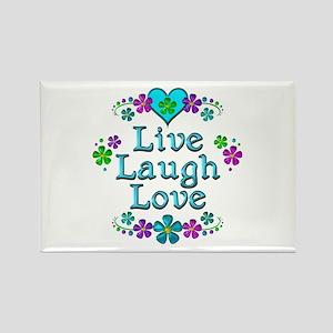 Live Laugh Love Rectangle Magnet