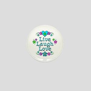 Live Laugh Love Mini Button