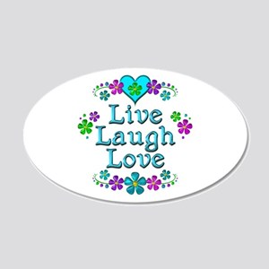 Live Laugh Love 20x12 Oval Wall Decal