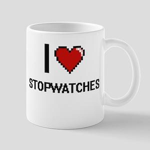 I love Stopwatches Digital Design Mugs