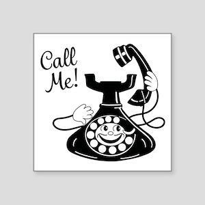 "Vintage Telephone Square Sticker 3"" x 3"""