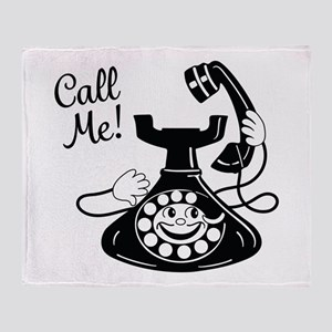 Vintage Telephone Throw Blanket