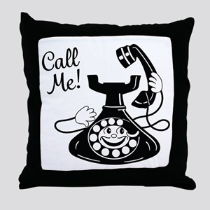Vintage Telephone Throw Pillow