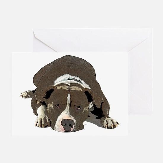 Cute Pitt bulls Greeting Card