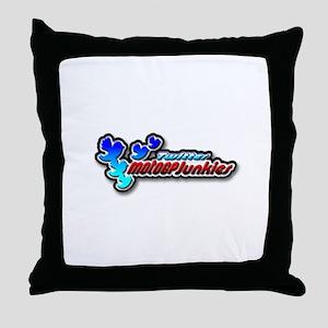 MotoGPJunkies Logo Throw Pillow