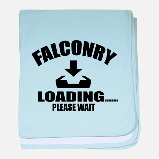 Falconry Loading Please Wait baby blanket