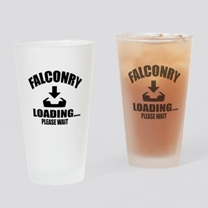 Falconry Loading Please Wait Drinking Glass