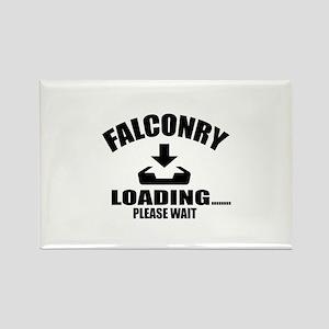 Falconry Loading Please Wait Rectangle Magnet