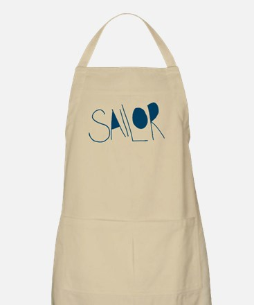 Sailor Hand Drawn Typography Font Text Apron