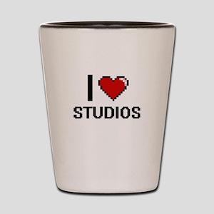 I love Studios Digital Design Shot Glass