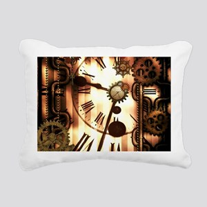 Steampunk, clocks and gears, vintage design Rectan