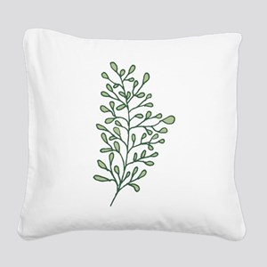Tropical Leaves Illustration Square Canvas Pillow