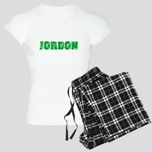 Jordon Name Weathered Green Design Pajamas