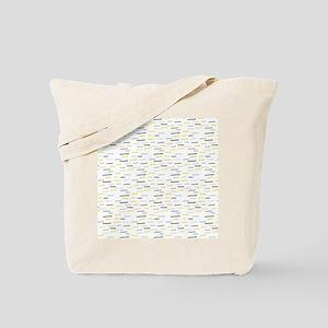 Dashed Line Illustration Pattern Tote Bag
