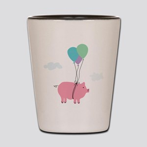 When Pigs Can Fly Illustration Shot Glass