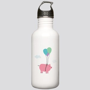 When Pigs Can Fly Illustration Water Bottle