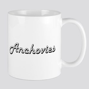 Anchovies Classic Retro Design Mugs
