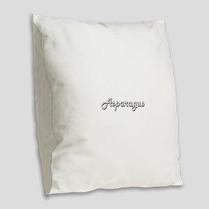 Asparagus Classic Retro Design Burlap Throw Pillow