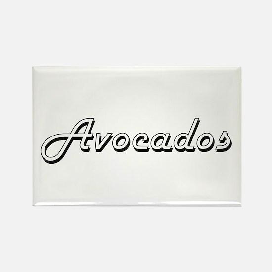Avocados Classic Retro Design Magnets