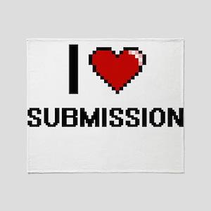 I love Submission Digital Design Throw Blanket