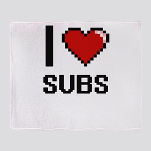 I love Subs Digital Design Throw Blanket
