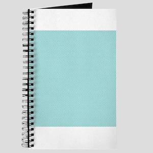 Modern Chic Aqua Blue White Tiny Polka Dots Journa