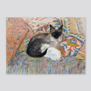 Cuddly Cat and Kitten 5'x7'Area Rug