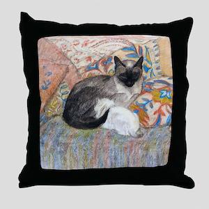 Cuddly Cat and Kitten Throw Pillow
