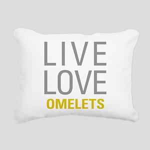 Live Love Omelets Rectangular Canvas Pillow