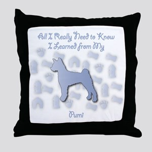Learned Pumi Throw Pillow