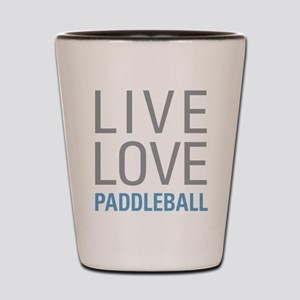 Live Love Paddleball Shot Glass