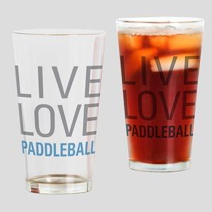 Live Love Paddleball Drinking Glass