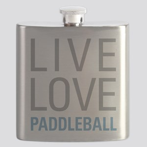 Live Love Paddleball Flask