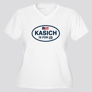 Kasich Is For US Plus Size T-Shirt