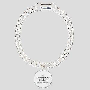 Kindergarten Teacher Charm Bracelet, One Charm