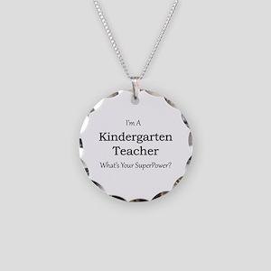 Kindergarten Teacher Necklace Circle Charm