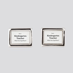 Kindergarten Teacher Rectangular Cufflinks