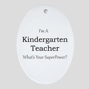 Kindergarten Teacher Oval Ornament